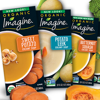 Imagine Creamy Soups: packaging design