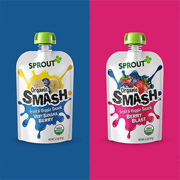 "Sprout Foods Organic ""Smash"" pouches – New Product Launch"