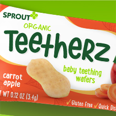Sprout Foods breaks out Organic Teetherz with bold brand look!