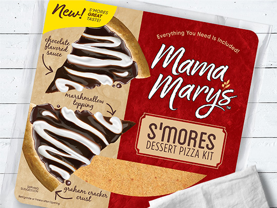 mama Mary's s'mores dessert pizza kit